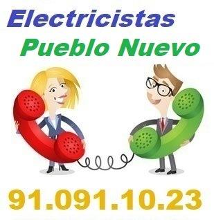 Telefono de la empresa electricistas Pueblo Nuevo