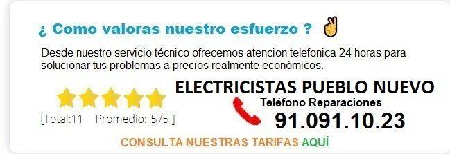 electricistas Pueblo Nuevo precios